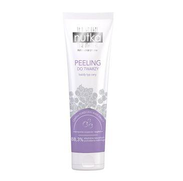 Nutka Peeling do twarz każdy typ cery Czarna Porzeczka i Białe Kwiaty 100ml