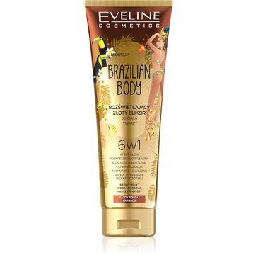 Eveline Brazilian Body – rozświetlający eliksir do ciała i twarzy 6w1 (100 ml)