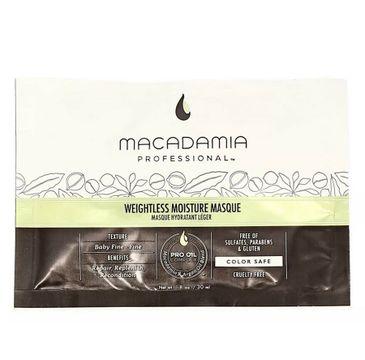 Macadamia Professional – Weightless Moisture Masque nawilżająca maska do włosów cienkich (30 ml)