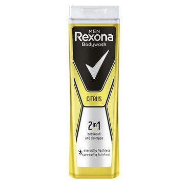 Rexona Men Citrus – żel pod prysznic i szampon dla mężczyzn 2w1 (400 ml)