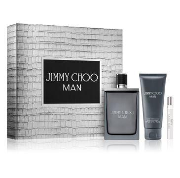 Jimmy Choo – Man zestaw woda toaletowa spray 100ml + miniatura wody toaletowej spray 7.5ml + balsam po goleniu 100ml (1 szt.)