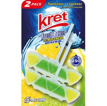 Kret – Fresh Power zawieszka do WC Citrus Fresh (2 x 40 g)