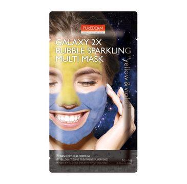 Purederm – Galaxy 2x Bubble Sparkling Multi Mask – maseczka oczyszczająca Yellow & Violet (12 g)