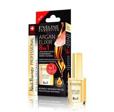 Eveline – Cosmetics Nail Therapy Professional Argan Elixir 8w1 luksusowy olejek do regeneracji skórek i paznokci (12 ml)