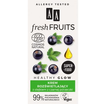 AA – Fresh Fruits krem rozświetlający z olejkiem z czarnej porzeczki (50 ml)