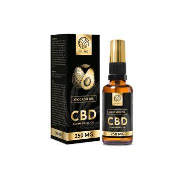 Dr. T&J Avocado Oil naturalny olej awokado BIO + CBD 250 MG (50 ml)
