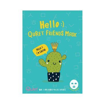 Quret – Hello:) Friends Mask maska do twarzy w płachcie Kaktus (25 g)
