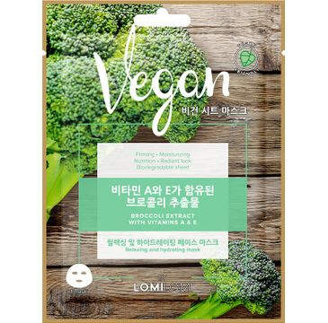 Lomi Lomi Vegan Sheet Mask – wegańska maseczka w płachcie Brokuł (20 ml)
