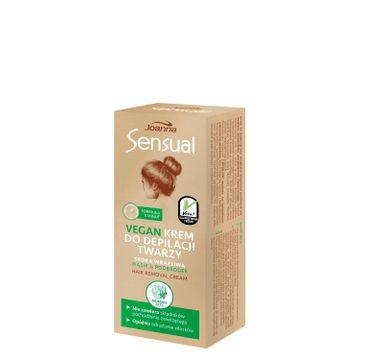 Joanna Sensual Vegan 鈥� krem do depilacji twarzy Morskie Algi (20 g)