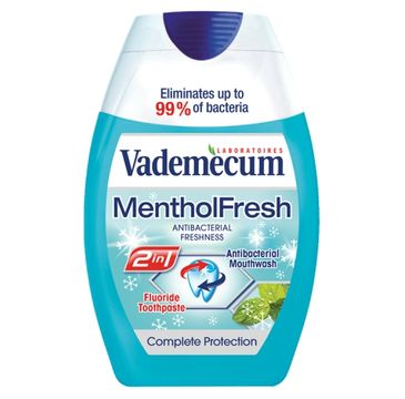 Vademecum – 2in1 Toothpaste&Mouthwash Mentol Fresh pasta do zębów i płyn do płukania jamy ustnej (75 ml)