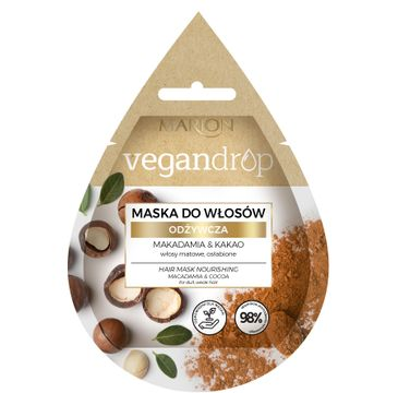 Marion Vegan Drop 鈥� maska do w艂os贸w od偶ywcza Makadamia & Kakao (20 ml)