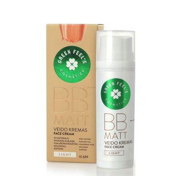 Green Feel's – BB Matt Face Cream SPF15 krem BB do twarzy matujący Light (50 ml)