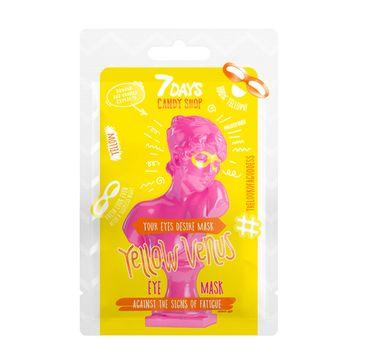 7Days Candy Shop Yellow Venus maska do skóry wokół oczu usuwająca oznaki zmęczenia (10 g)