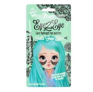 7DAYS Eye2Eye koronkowe hydrożelowe plastry pod oczy tonizujące i odżywiające (6 g)