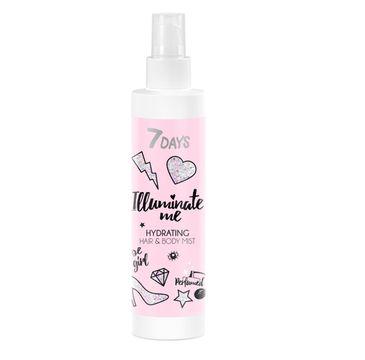 7DAYS Illuminate Me Rose Girl nawilżająca mgiełka do ciała i włosów (180 ml)