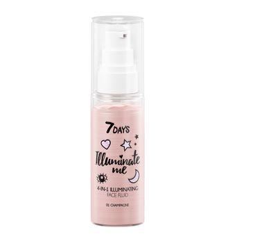 7DAYS Illuminate Me Rose Girl rozświetlający fluid 4w1 01 Champagne (50 ml)