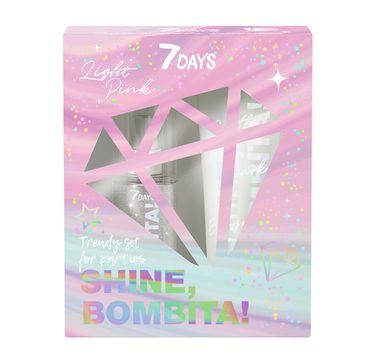 7DAYS Shine Bombita! Pinky zestaw perfumowana mgiełka do ciała 135ml + rozświetlające mleczko do ciała 150ml (1 szt.)