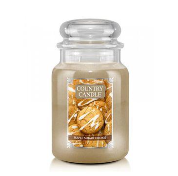 Country Candle – Duża świeca zapachowa z dwoma knotami Maple Sugar Cookie (680 g)