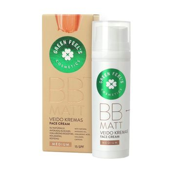 Green Feel's – BB Matt Face Cream SPF15 krem BB do twarzy matujący Medium (50 ml)