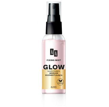 AA – Fixing Mist Glow mgiełka rozświetlająca utrwalająca makijaż (50 ml)