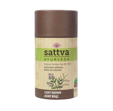 Sattva Natural Herbal Dye for Hair naturalna ziołowa farba do włosów Light Brown 150g