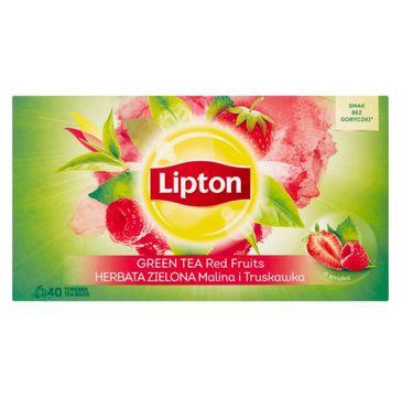 Lipton Green Tea herbata zielona Malina i Truskawka 40 torebek 56g
