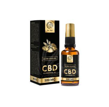Dr. T&J Jojoba Gold Oil naturalny olej jojoba BIO + CBD 500 MG (50 ml)
