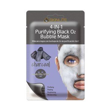 Skinlite 4-in-1 Purifying Black O2 Bubble Mask – maska bąbelkująca w płachcie Węgiel (1 szt.)