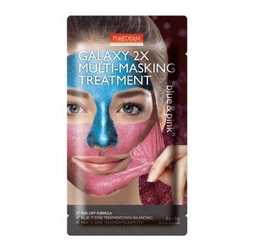 Purederm – Galaxy 2x Multi-Masking Treatment – maseczka balansująco - uelastyczniająca Blue & Pink (12 g)
