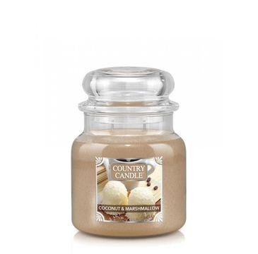 Country Candle – Średnia świeca zapachowa z dwoma knotami Coconut Marshmallow (453 g)