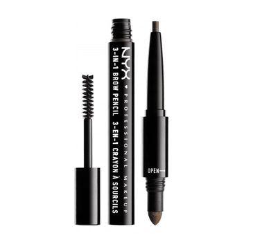 NYX Professional MakeUp 3in1 Brow Pencil wielofunkcyjny produkt do makijażu brwi 07 Espresso