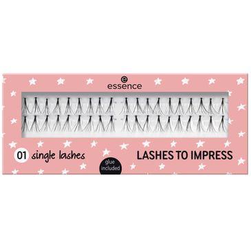 Essence – Lashes To Impress sztuczne rzęsy w kępkach 01 Single Lashes (40 szt.)