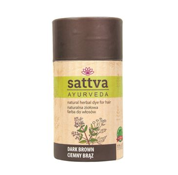 Sattva Natural Herbal Dye for Hair naturalna ziołowa farba do włosów Dark Brown 150g
