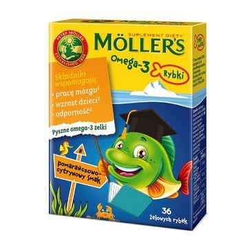 Möller's – Omega-3 Rybki żelki z kwasami omega-3 i witaminą D3 dla dzieci Pomarańczowo-cytrynowe (36 szt.)