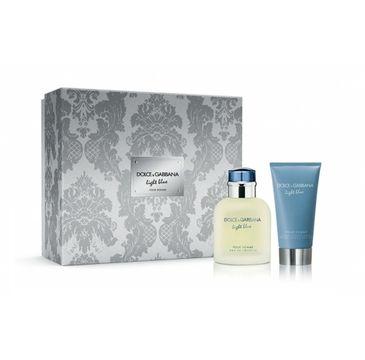 Dolce & Gabbana – Light Blue Pour Homme zestaw woda toaletowa spray 75ml + balsam po goleniu 75ml (1 szt.)