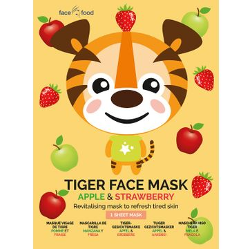 7th Heaven – Tiger Face Mask rewitalizująca maseczka w płachcie Apple & Strawberry (1 szt.)