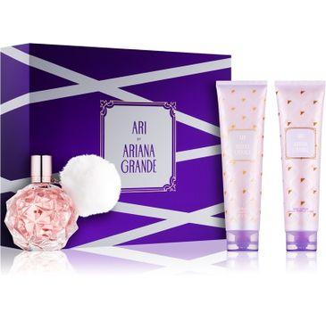 Ariana Grande – Ari zestaw woda perfumowana spray 100ml + balsam do ciała 100ml + żel pod prysznic 100ml (1 szt.)