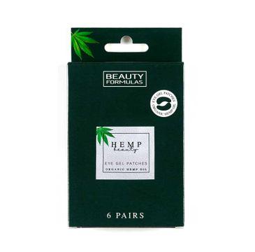 Beauty Formulas – Hemp Beauty Eye Gel Patches żelowe płatki pod oczy z organicznym olejem konopnym (6 par)