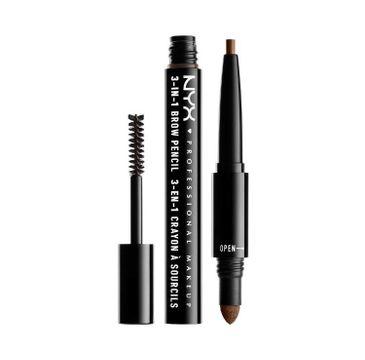 NYX Professional MakeUp 3in1 Brow Pencil wielofunkcyjny produkt do makijażu brwi 03 Soft Brown