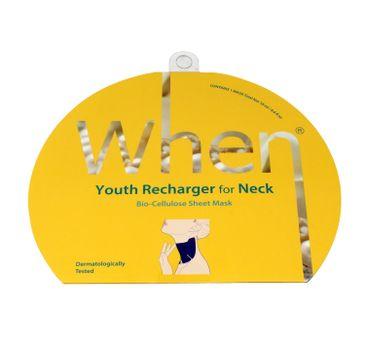 When – Youth Recharger For Neck  koreańska przeciwzmarszczkowa maska na szyję w płachcie (18 ml)