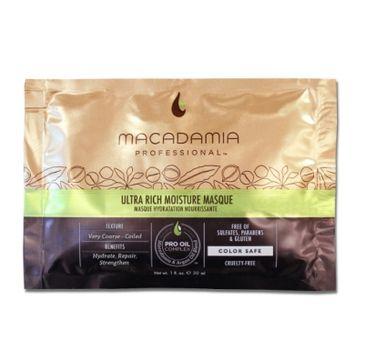 Macadamia Professional – Ultra Rich Moisture Masque nawilżająca maska do włosów grubych (30 ml)