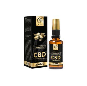 Dr. T&J Argan Oil naturalny olej arganowy BIO + CBD 250 MG (50 ml)