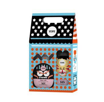 Yope – zestaw kosmetyków dla dzieci – mydło w płynie Kokos i Mięta + żel pod prysznic Żurawina i Lawenda (1 op.)