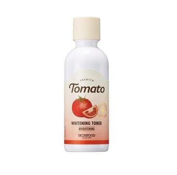Skinfood Premium Tomato Whitening Toner – rozświetlająco-rozjaśniający tonik do twarzy z witaminą C i pomidorem (180 ml)