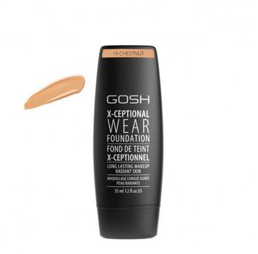 Gosh X-Ceptional Wear Foundation Long Lasting Makeup (długotrwały podkład do twarzy 19 Chestnut 35 ml)