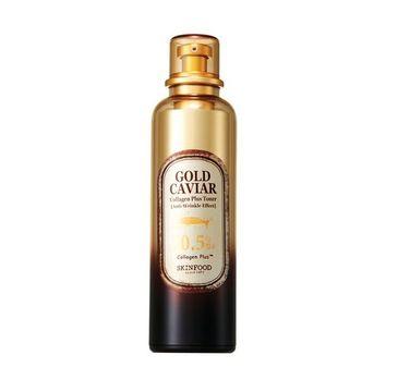 Skinfood – Gold Caviar Collagen Plus Toner przeciwzmarszczkowy tonik do twarzy (120 ml)