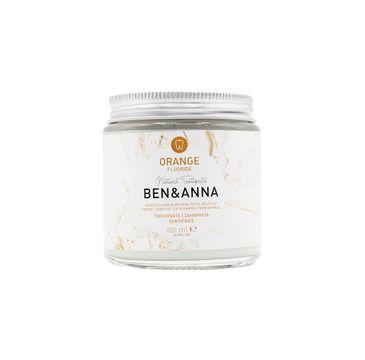 Ben&Anna – Natural Toothpaste naturalna pasta do wrażliwych zębów z fluorem Orange (100 ml)