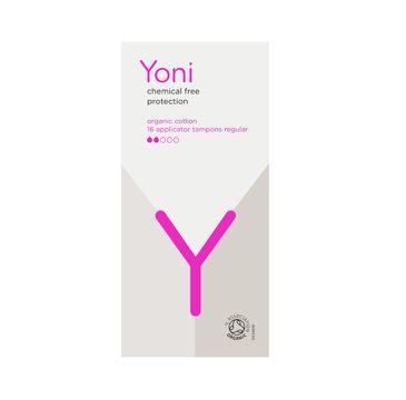 Yoni – Organic Cotton Applicator Tampons tampony z aplikatorem z bawełny organicznej Regular (16 szt.)