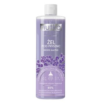 Nutka Żel pod prysznic skóra sucha Czarna Porzeczka i Białe Kwiaty 400ml