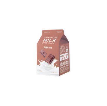 A'Pieu – Chocolate Milk One-Pack wygładzająca maseczka w płachcie Czekolada (20 g)